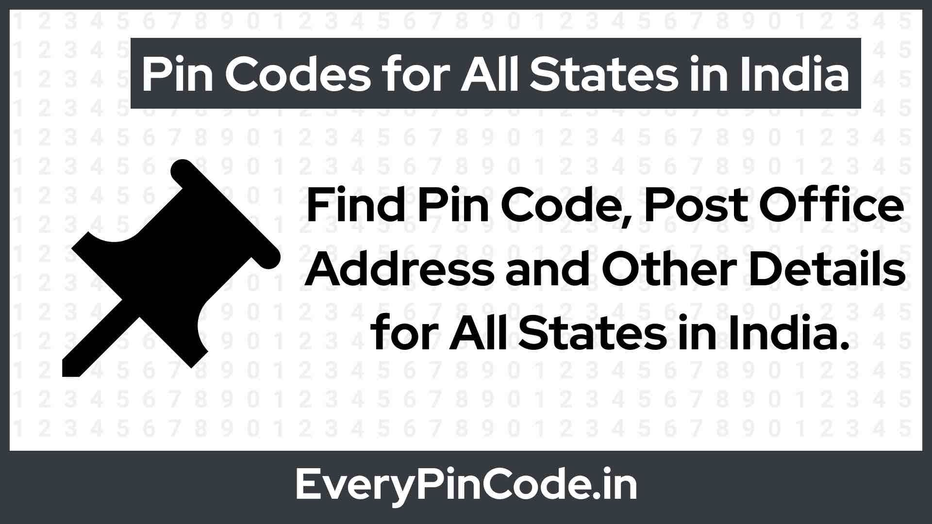Search Every Pin Code Of India | Search Post Office Details Of India